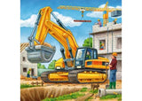 3x49pc Jigsaw Puzzle Ravensburger Construction Vehicle