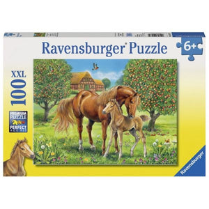 100pc Jigsaw Puzzle Ravensburger Horses In The Field