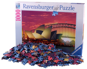 1000pc Jigsaw Puzzle Ravensburger Sydney Opera House Harbour Bridge Sunset