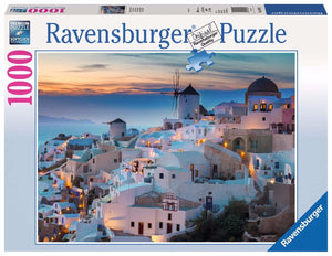 1000pc Jigsaw Puzzle Ravensburger Evening In Santorini