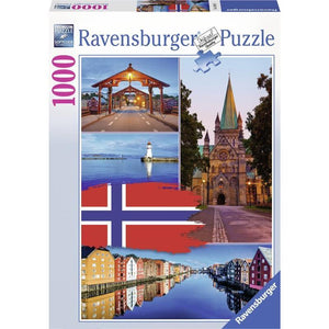 1000pc Jigsaw Puzzle Ravensburger Trondheim College Norway