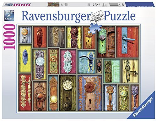 1000pc Jigsaw Puzzle Ravensburger Antique Doorknobs