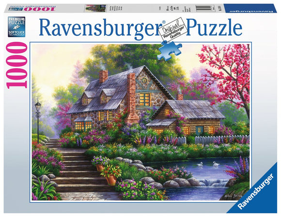 1000pc Jigsaw Puzzle Ravensburger Romantic Cottage