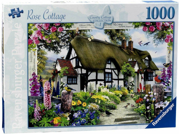 1000pc Jigsaw Puzzle Ravensburger Rose Country Cottage
