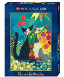 1000pc Jigsaw Puzzle Heye Cat Flowerbed With Gold Foil By Rosina Wachtmeister