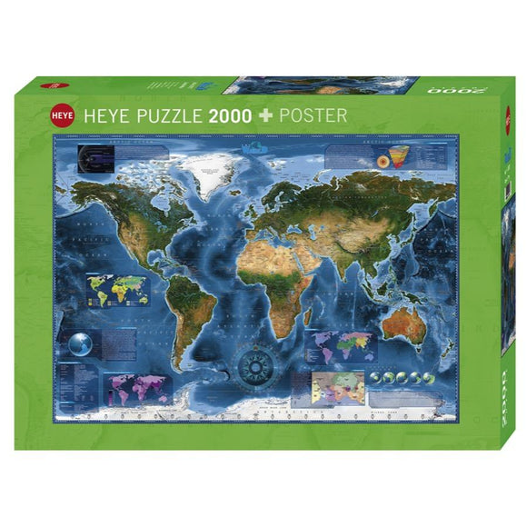 2000pc Jigsaw Puzzle World Satellite Map