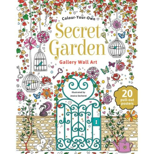 Secret Garden Colour Your Own Gallery Wall Art by Jessica Secheret Softcover Book