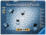 654pc Jigsaw Puzzle Ravensburger KRYPT Silver Spiral