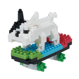 Nano Block Skateboarding Dog
