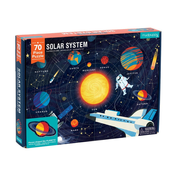 70pc Jigsaw Puzzle Mudpuppy Special Shaped Pieces Solar System