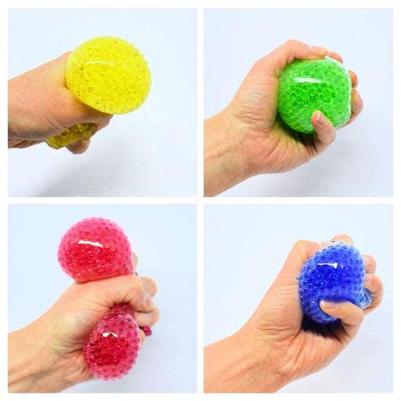Ball Squishy Gel Orb Beads 5 Assorted Colours Textured Sensory Fidget Toy