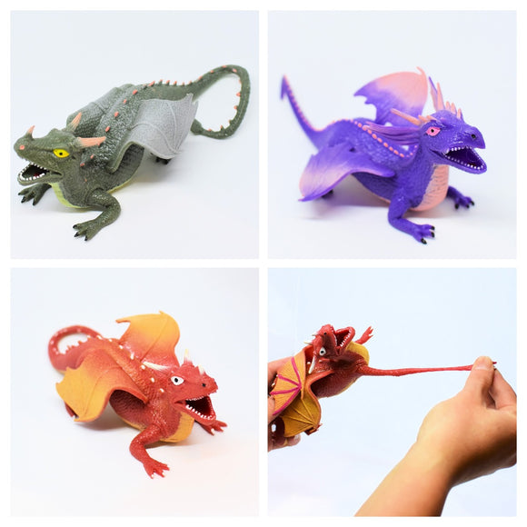Stretchy Dragon Assorted Colours Sensory Toy