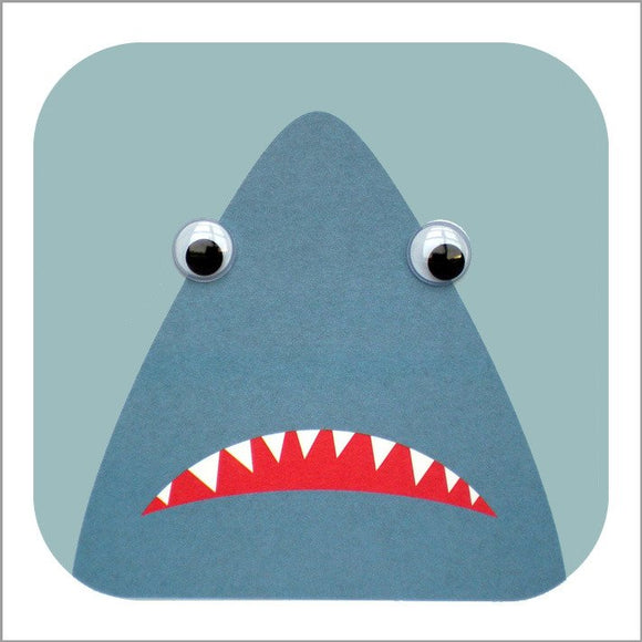 Greeting Card Googly Eyes Shark Sherman