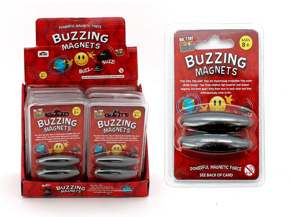 2pc Buzzing Magnets Powerful Magnetic Force in Red Blisterpack