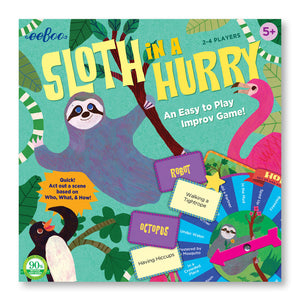 Sloth In A Hurry Eeboo Children's Improvisation Board Game