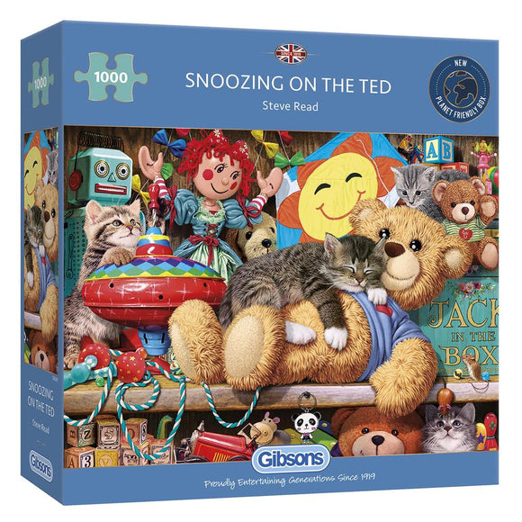 1000pc Jigsaw Puzzle Gibsons Snoozing On The Ted