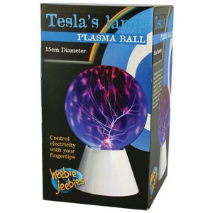 Tesla's Lamp Plasma Ball Glow in the Dark by Heebie Jeebies 15cm Diameter