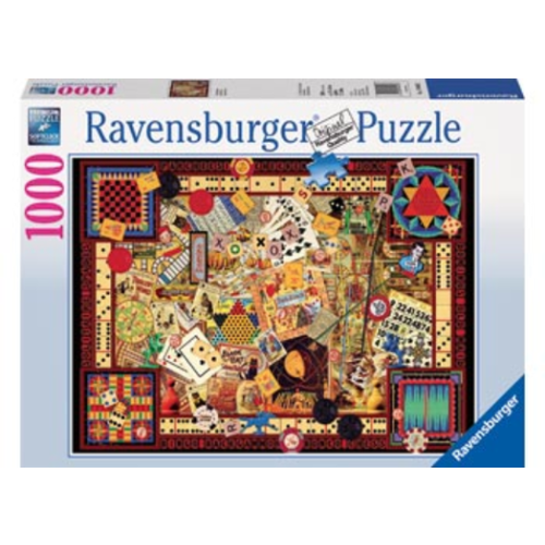 1000pc Jigsaw Puzzle Ravensburger Vintage Games