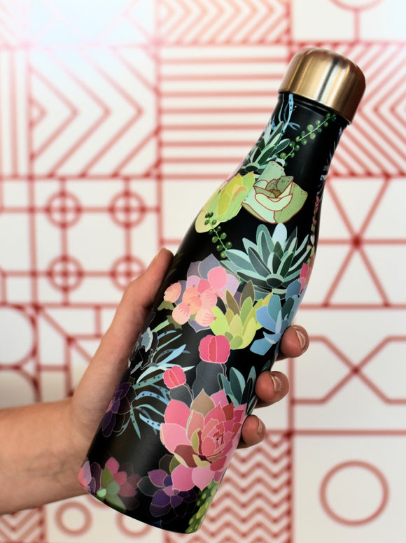 Drink Bottle Thermos Succulents Stainless Steel