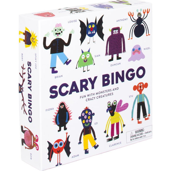 Scary Bingo Attention and Recognition Board Game