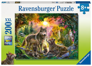 200pc Jigsaw Puzzle Ravensburger Wolf Family In The Sun