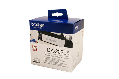 Brother DK22205 White Roll