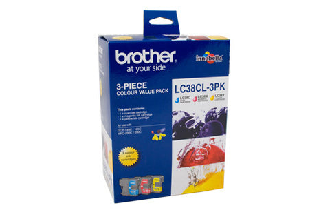 Brother LC38 CMY Colour Pack