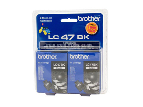 Brother LC47 Black Twin Pack