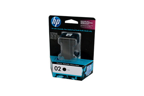 HP #02 Black Ink Cartridge C8721WA