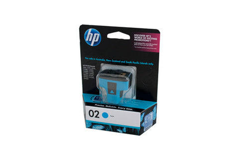 HP #02 Cyan Ink Cartridge C8771WA
