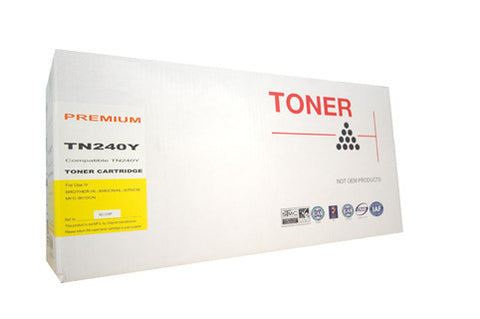 Compat Brother TN240 Yellow Cartridge
