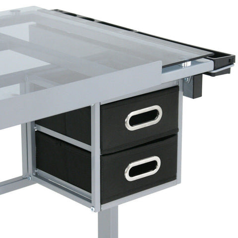 Drafting Drawing Table Glass Top