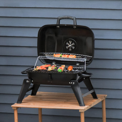 Charcoal Tabletop Grill BBQ Outdoor Portable