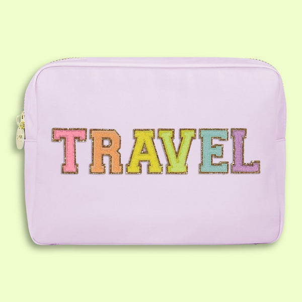 "Lilac ""TRAVEL"" Large Pouch by Stoney Clover"