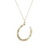 Jane Win Lucky Gold Horse Shoe Pendant
