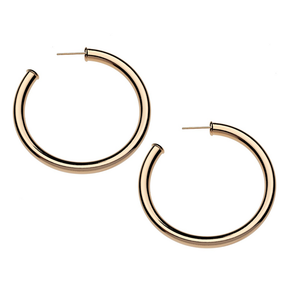 Gigi Light Weight Hollow Hoop Earrings