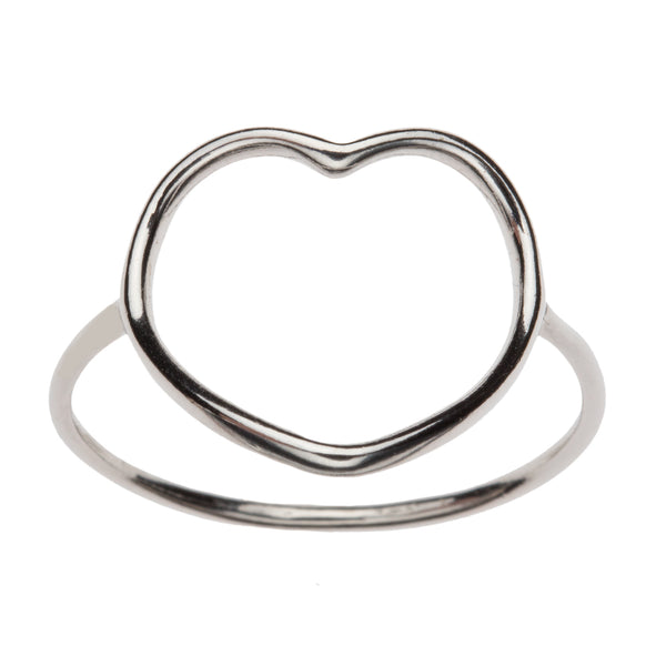 Open Heart Silhouette Ring