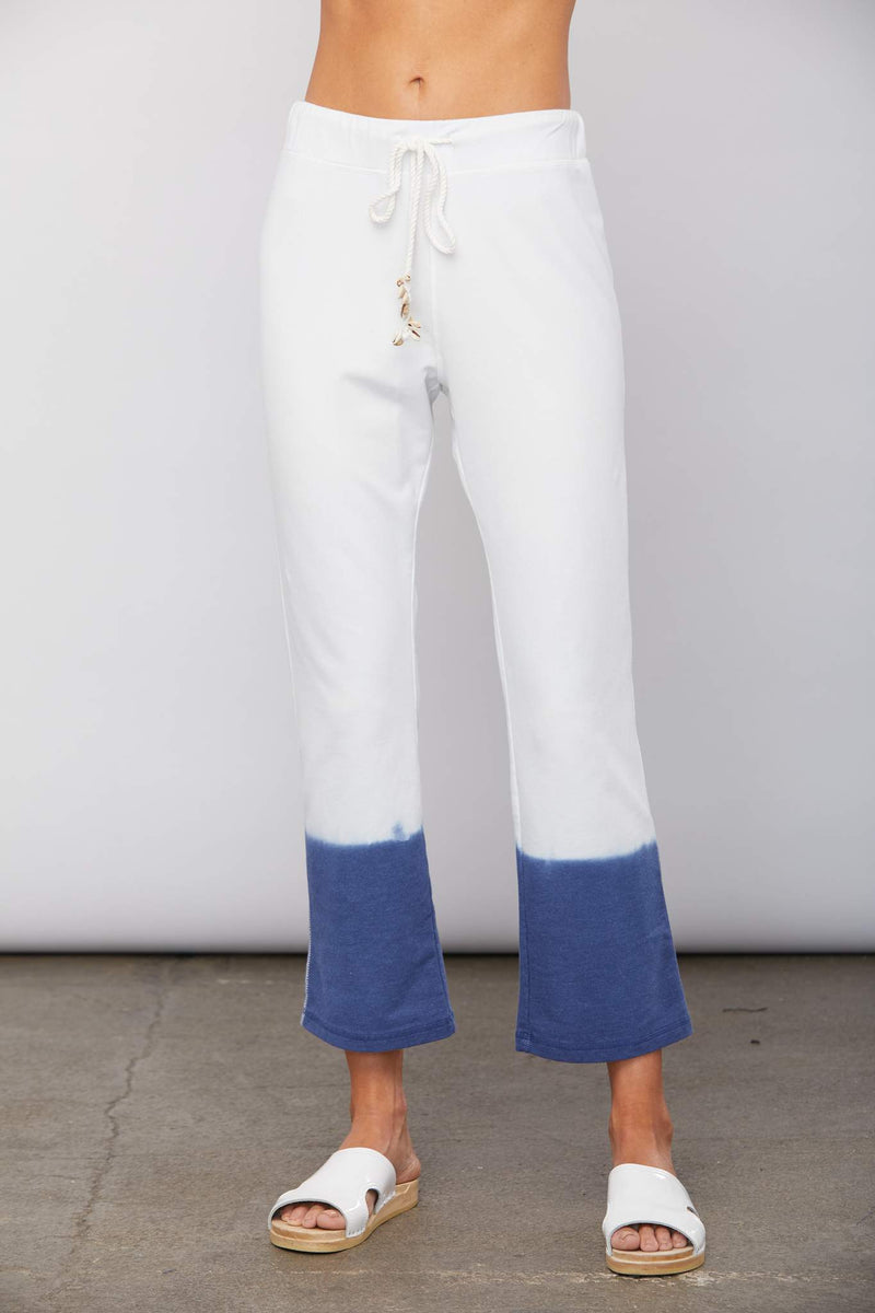 Dip Dyed Crop Flared Lux Cotton Lounge Pant