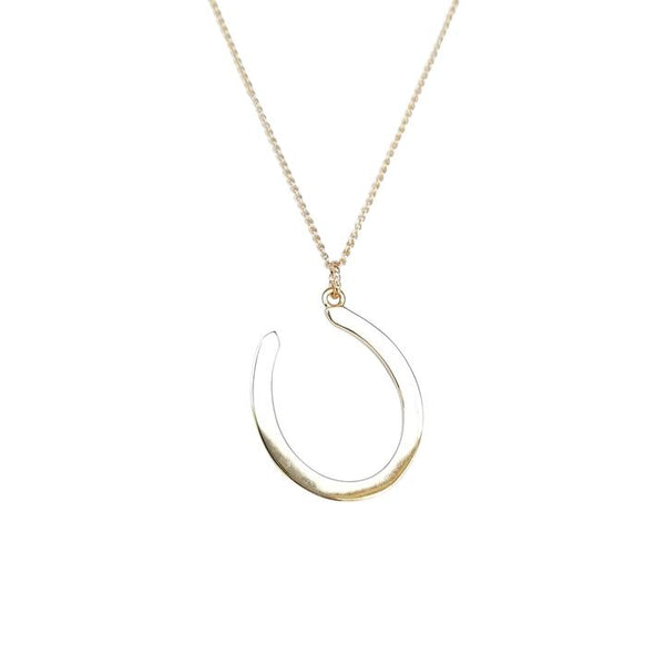 Lucky Gold Horse Shoe Pendant by Jane Winchester