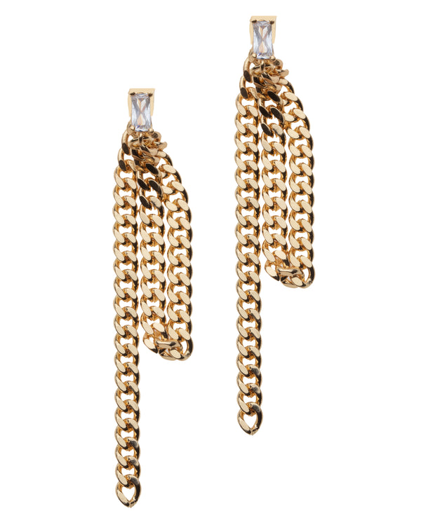 Curb Chain Drop Earrings
