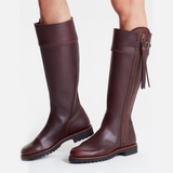 Long Tassel Spanish vegetable-dyed Leather Knee Boot by Penelope Chilvers  As Worn By the Duchess of Cambridge