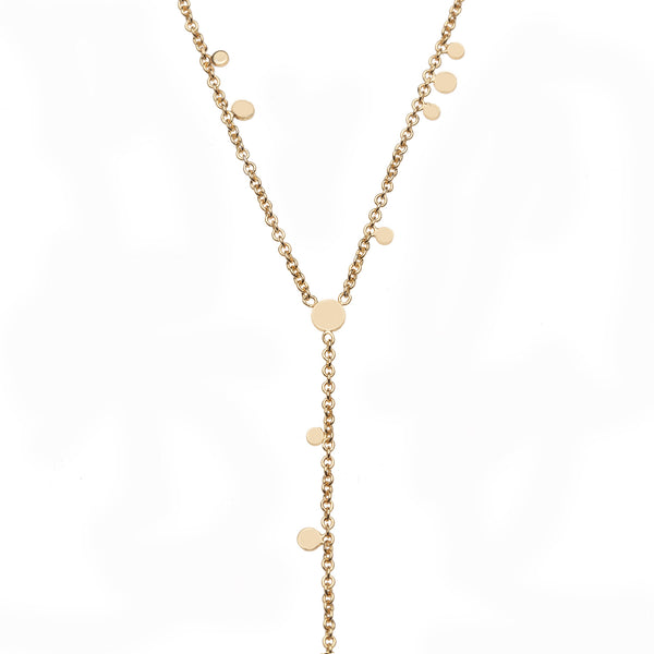 Delicate Vermeil Cascading Necklace with Cz Detail