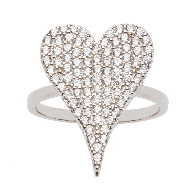 Heart Shaped Micro Pave Ring