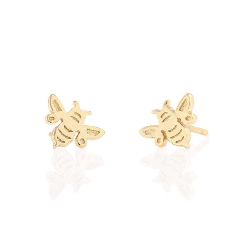 Bumble Bee Vermeil Stud Earrings