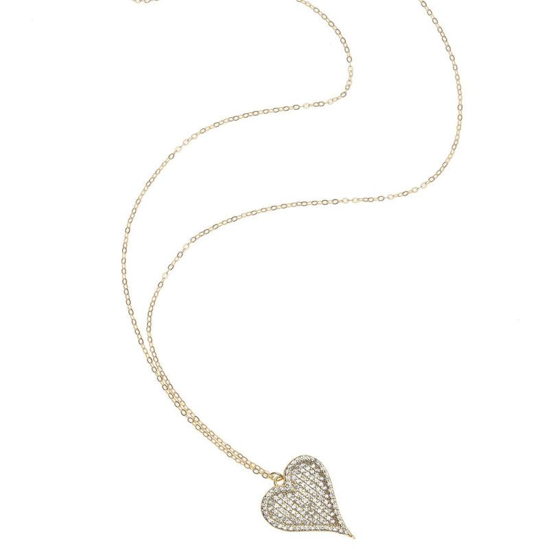 Pave Full Heart Necklace