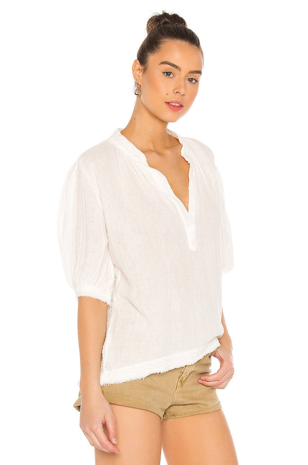 Biarritz Top in Lightweight Gauze
