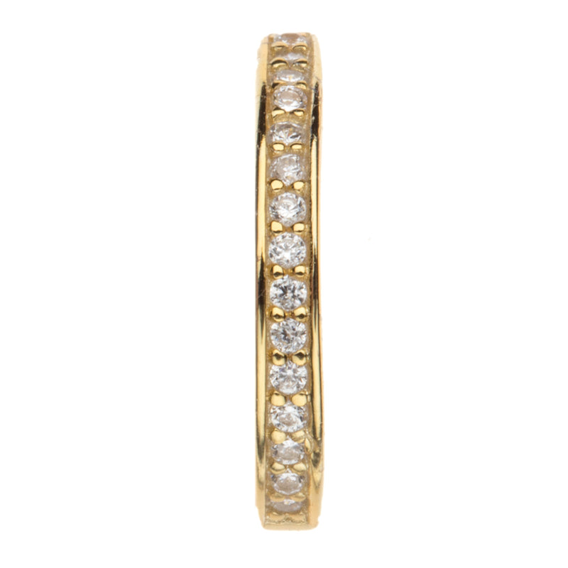 Pave Cz Single Bezel Ear Cuff
