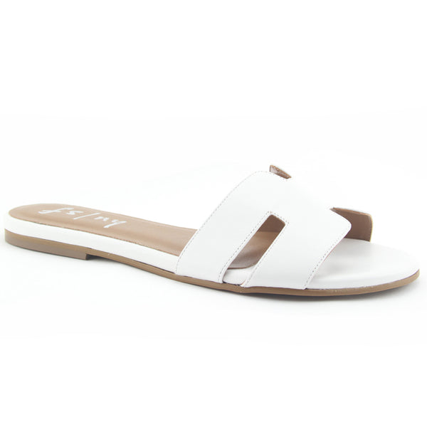 Alibi Slip-on Open Toe Leather Sandals
