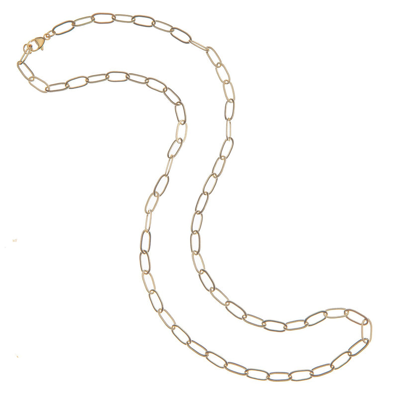 Gold Drawn Link Chain by Jane Win