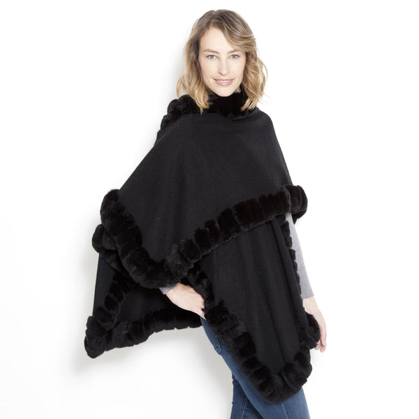 Oversize Snap Sleeve Poncho Taupe Snow Top